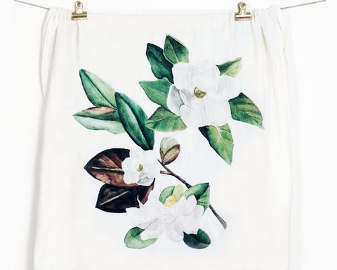 Magnolia Flour Sack Tea Towel