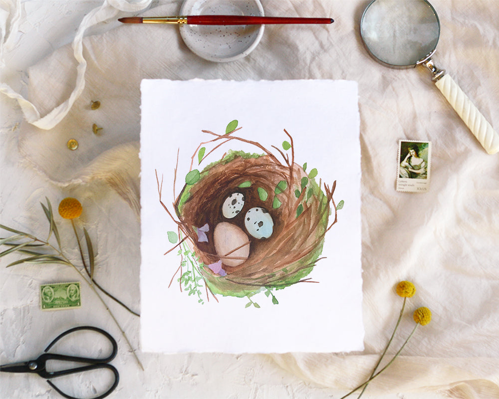 'Nest' Print - Honey Brush Design