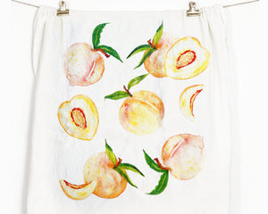 Peaches Flour Sack Tea Towel