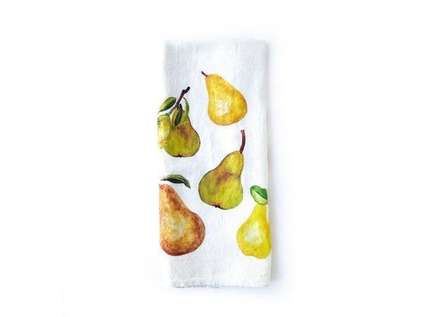 Pear Flour Sack Tea Towel