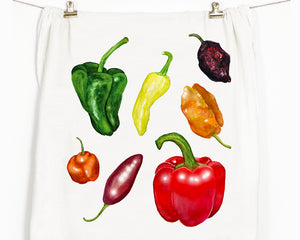Peppers Flour Sack Tea Towel