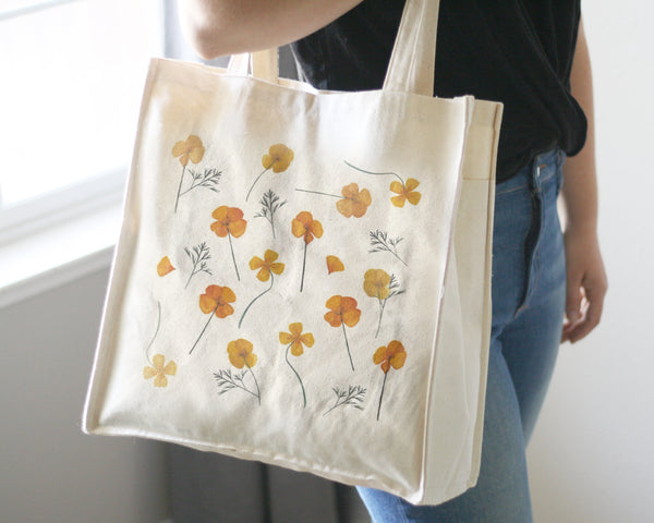 Pressed Poppies Tote Bag