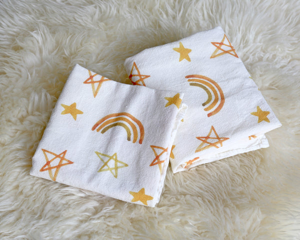 Rainbow Baby Burp Cloths