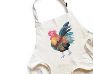 PRE-SALE Rooster Apron - Honey Brush Design