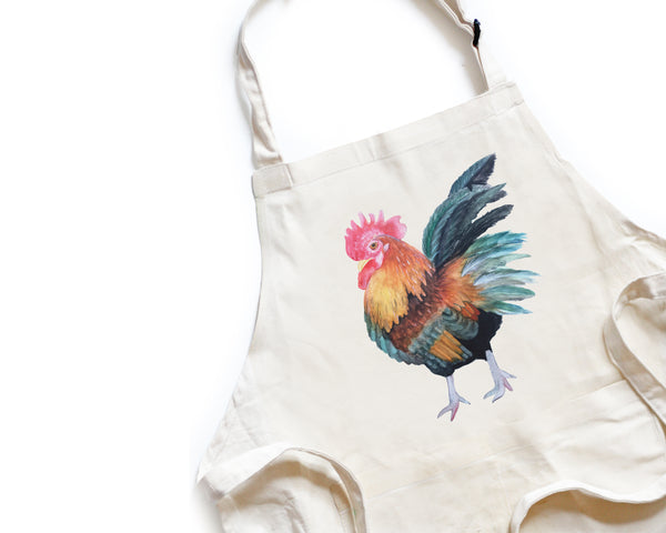Rooster Apron - Honey Brush Design