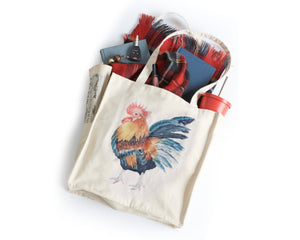 PRE-SALE Rooster Tote Bag - Honey Brush Design
