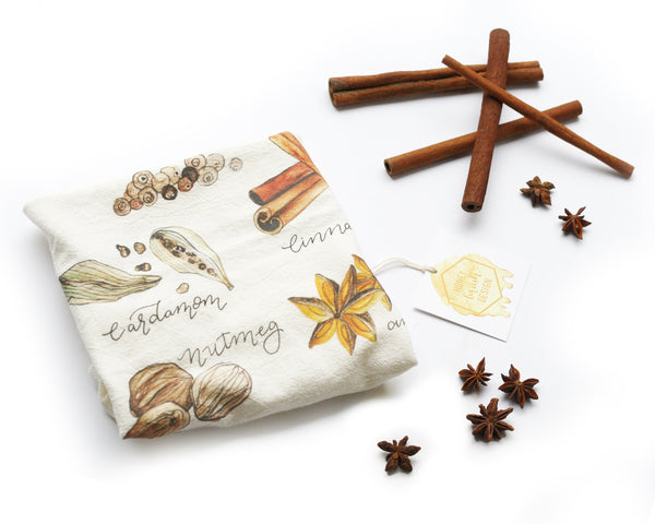 Spices Flour Sack Tea Towel