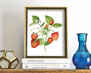 'Strawberries' Printable - Honey Brush Design