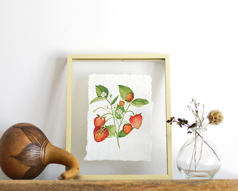 'Strawberries' Print - Honey Brush Design