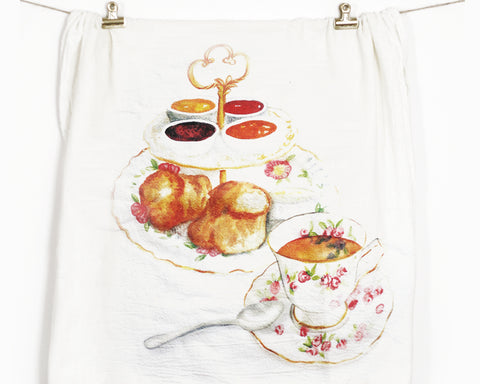 Tea Time Flour Sack Tea Towel
