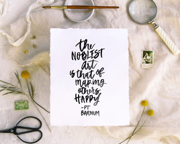 The Noblest Art Print - Honey Brush Design
