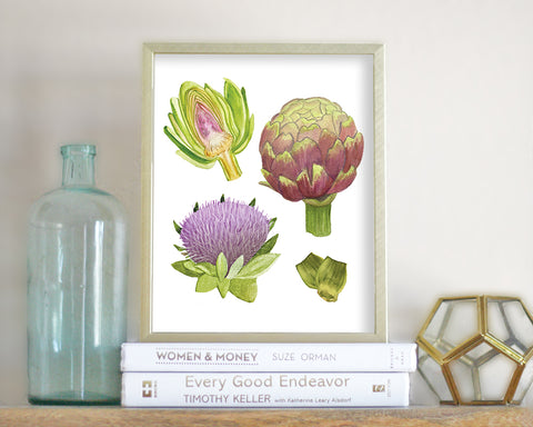 'Artichoke' Printable - Honey Brush Design