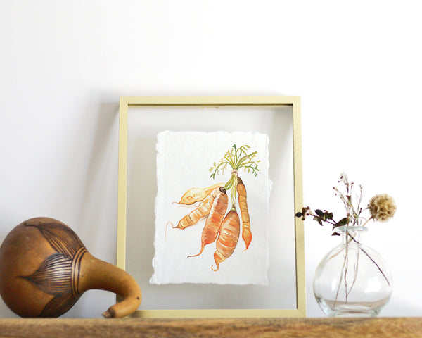 'Carrots' Print - Honey Brush Design