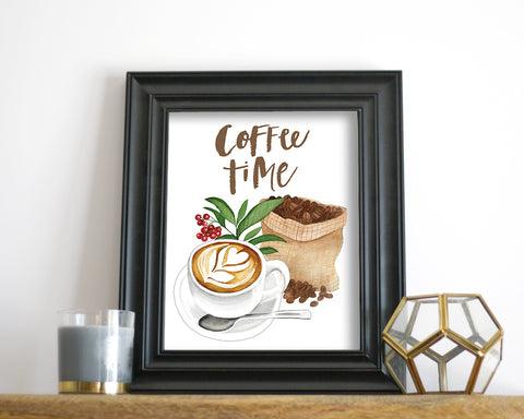 'Coffee Time' Printable - Honey Brush Design