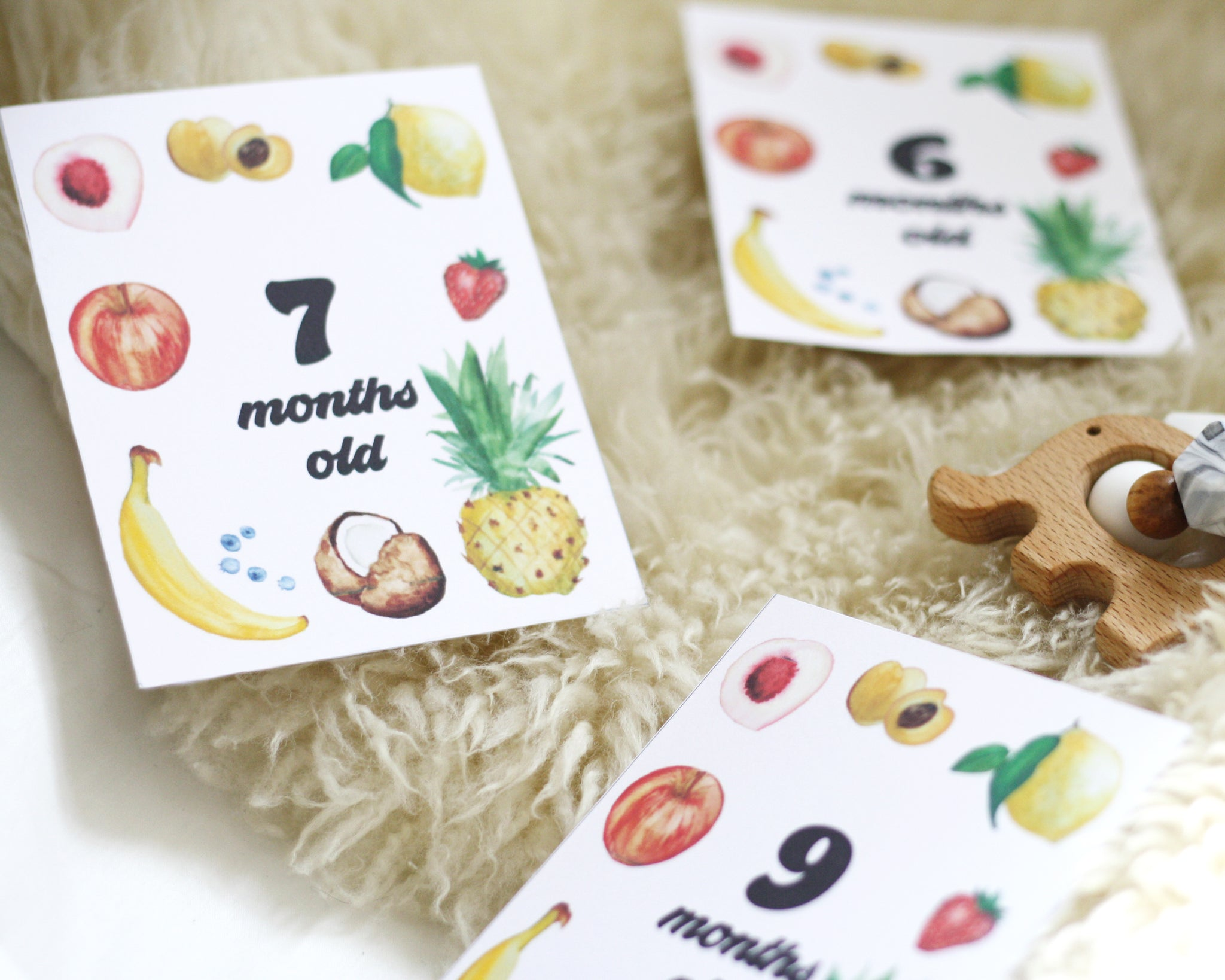 Fruit Baby Milestone Cards