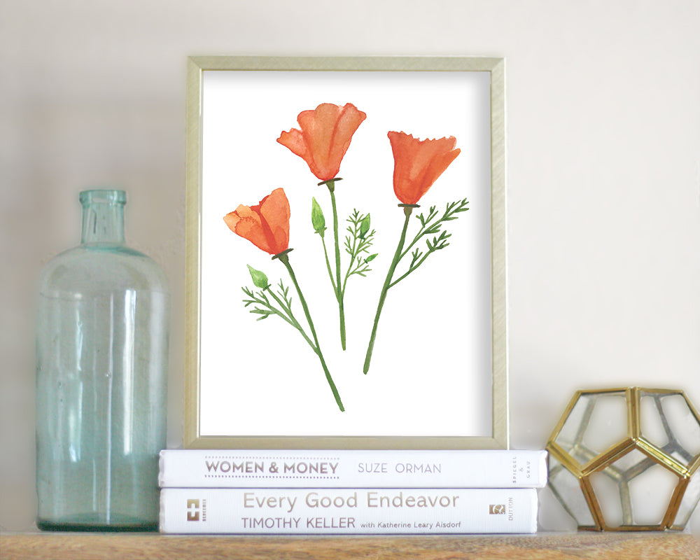 photo relating to Poppies Printable titled Golden Poppies Printable