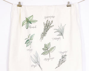 Herbs Flour Sack Tea Towel