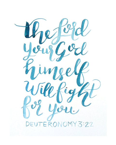'Deuteronomy 3:22' Printable - Honey Brush Design