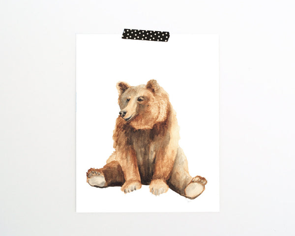 'Bear' Printable - Honey Brush Design