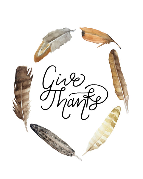'Give Thanks' Printable - Honey Brush Design