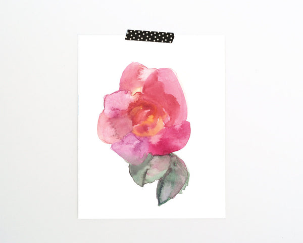 'Abstract Rose' Printable