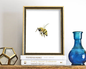 'Little Bee' Printable - Honey Brush Design