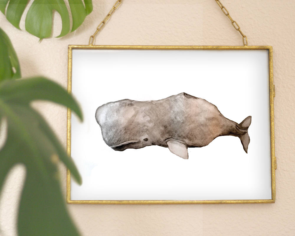 'Whale' Printable - Honey Brush Design