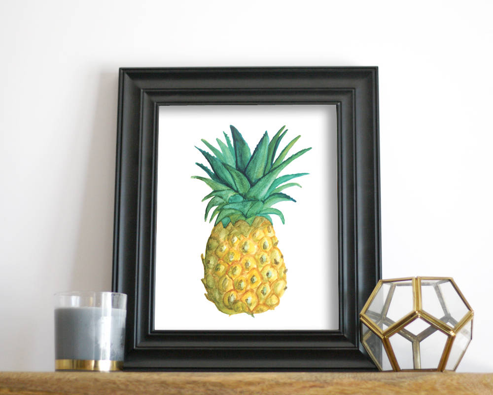 'Pineapple' Printable - Honey Brush Design