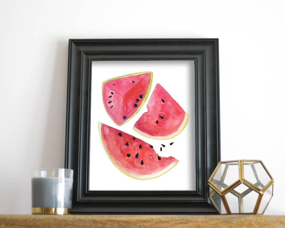 'Watermelon' Printable - Honey Brush Design
