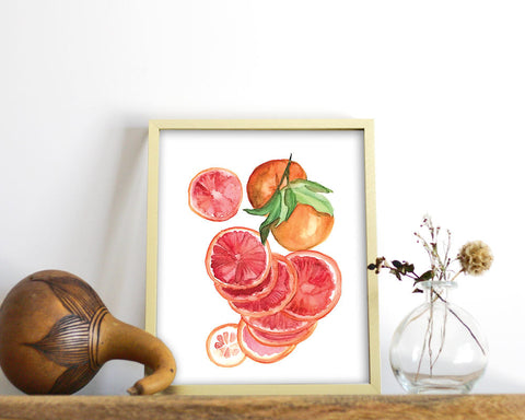 'Blood Oranges' Printable - Honey Brush Design