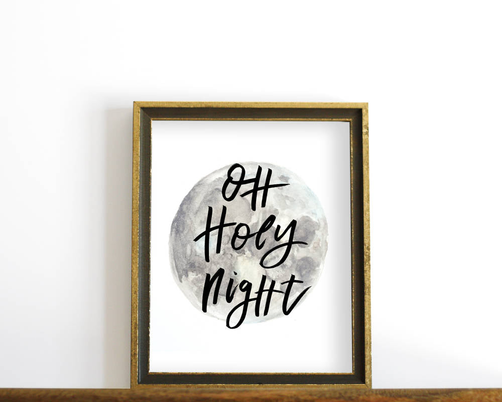 'Oh Holy Night' Printable - Honey Brush Design
