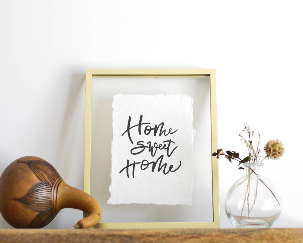 'Home Sweet Home' Print - Honey Brush Design