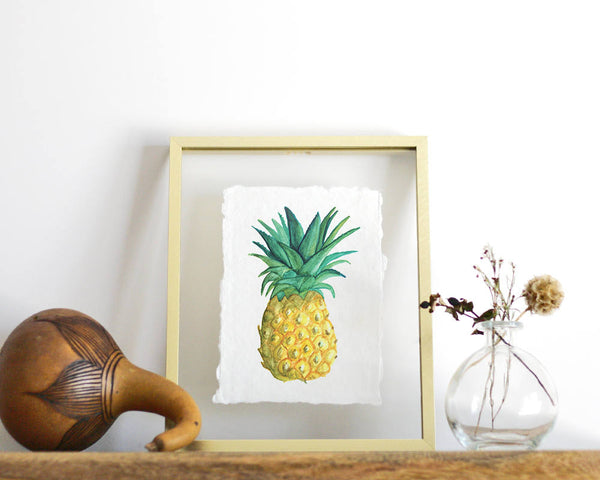 'Pineapple' Print - Honey Brush Design