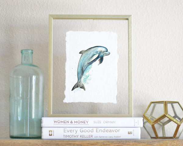 'Dolphin' Print - Honey Brush Design