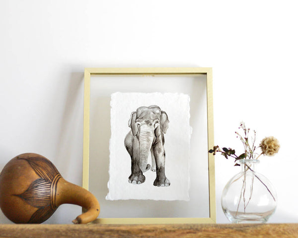 'Elephant' Print - Honey Brush Design