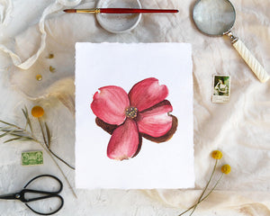 'Dogwood Flower' Print