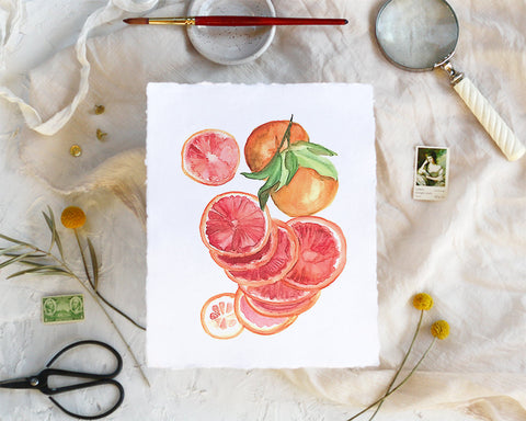 'Blood Orange' Print