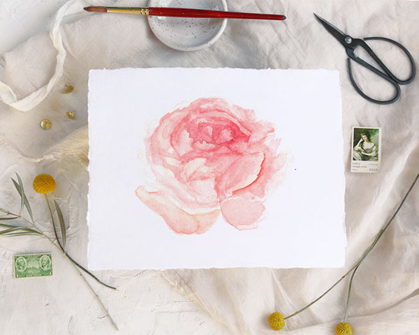 'Pink Peony' Print - Honey Brush Design