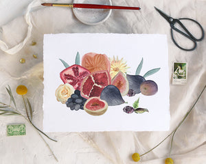 'Fall Fruits' Print - Honey Brush Design