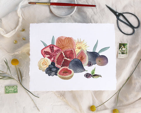 'Fall Fruits' Print