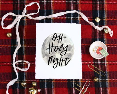 'Oh Holy Night' Print - Honey Brush Design