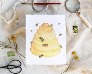 'Beehive' Print - Honey Brush Design