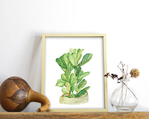 'Fiddle-Leaf Fig' Printable - Honey Brush Design