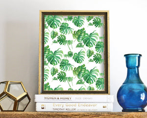 'Tropical Leaf Pattern' Printable - Honey Brush Design