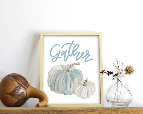 'Gather' Printable - Honey Brush Design