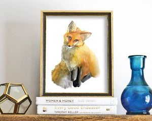 'Fox' Printable - Honey Brush Design