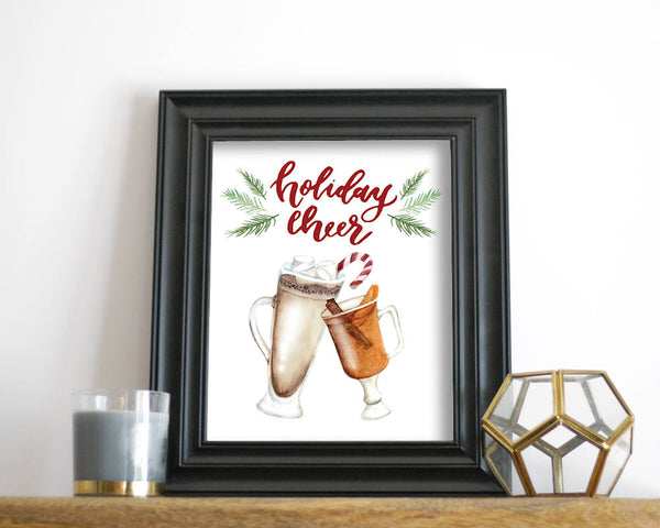 'Holiday Cheer' Printable - Honey Brush Design