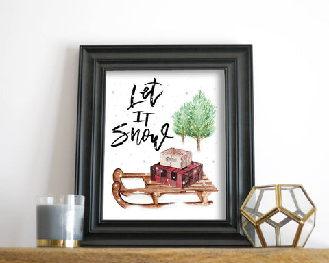 'Let It Snow' Printable - Honey Brush Design