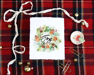 'Joy Wreath' Print - Honey Brush Design