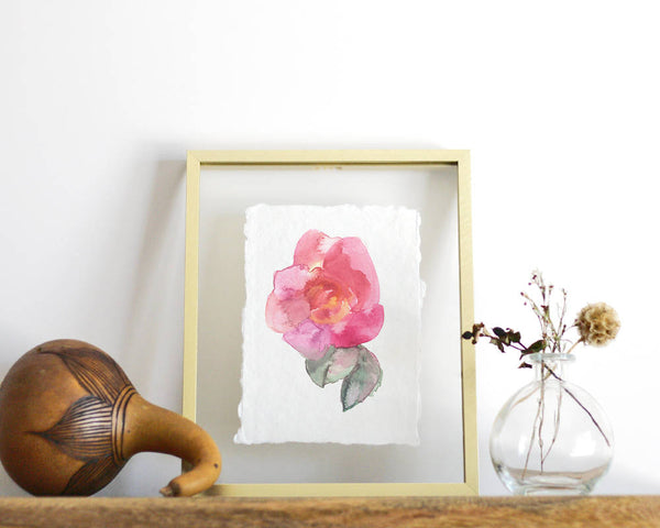 Abstract Rose Print - Honey Brush Design
